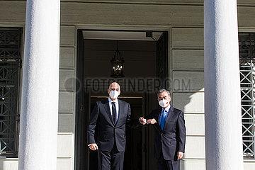Griechenland-Athen-Wang Yi-Dendias-Talks