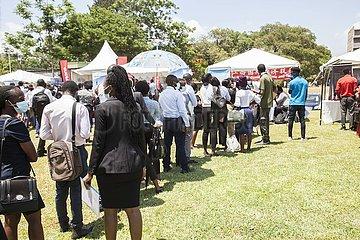 ZAMBIA-LUSAKA-JOB EXPO-CHINESE ENTERPRISES